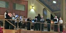 Brass Choir in the balcony